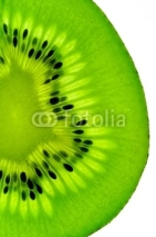 Fototapety kiwi fruit  slice on a light table (vertical back