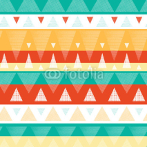 Fototapety Vector abstract vibrant ikat stripes seamless pattern background