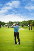 Fototapety Male golf player