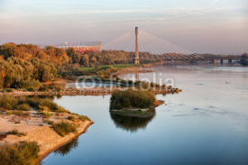 Fototapety Vistula River in Warsaw