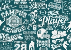 Fototapety American football seamless pattern