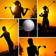 Fototapety Golf concept collage
