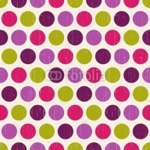 Obrazy i plakaty Seamless retro polka background