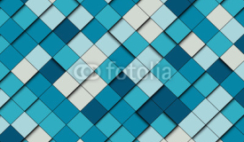 Geometric pattern. Abstract vector background with blue squares