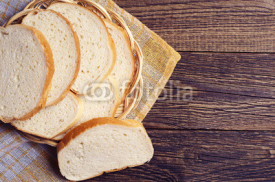 Naklejki Slices white bread in plate