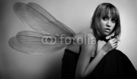 Fototapety portrait of girl with wings