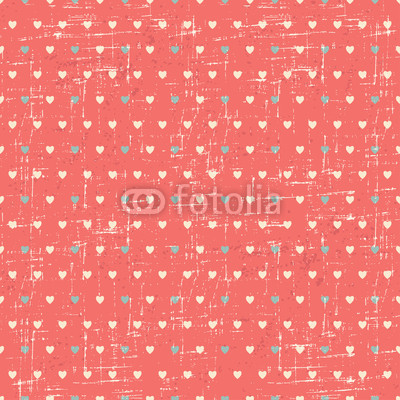 Seamless retro pattern of Valentine's hearts.