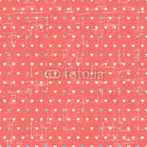 Fototapety Seamless retro pattern of Valentine's hearts.