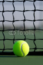Fototapety Tennis Ball with Court Net