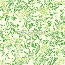 Fototapety Floral pattern Leaves textured tiled background Ornamental floururish abstraction