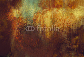 Naklejki art abstract grunge background with rusted metal color,digital painting