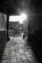 Fototapety Traditional street view of old buildings in Venice, ITALY