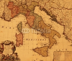 Naklejki antique map of Italy