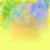 Fototapety Vector abstract yellow background with triangles