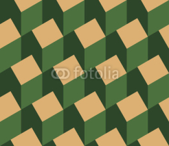 Naklejki Vector illustration of a seamless repeating pattern of isometric house