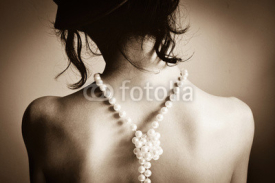 Fototapety Woman with pearls