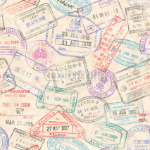 Naklejki Passport Stamps Seamless texture