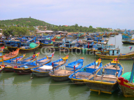 Naklejki Vietnam, Phan Thiet fishing harbor