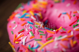 Doughnut sprinkled with wooden