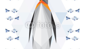 Polygonal penguin background