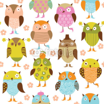 Obrazy i plakaty seamless pattern with owl