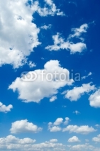Fototapety White clouds in the blue sky. Cloudscape