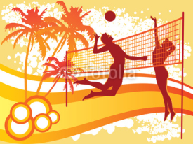 Fototapety beach volley vector