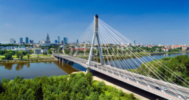 Obrazy i plakaty Bridge in Warsaw over Vistula river