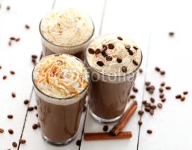 Naklejki Ice coffee with whipped cream