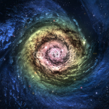 Obrazy i plakaty Incredibly beautiful spiral galaxy somewhere in deep space
