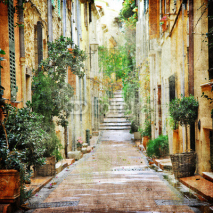 Fototapety charming streets of mediterranian, artistic picture