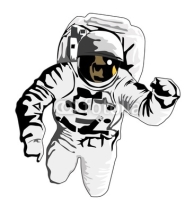 Fototapety astronaut flying