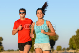 Obrazy i plakaty Sport couple running