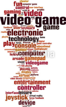 Obrazy i plakaty Video game word cloud concept. Vector illustration