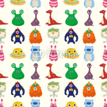 Fototapety seamless monster pattern