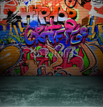 Obrazy i plakaty Graffiti wall urban street art painting