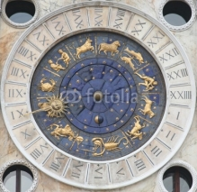 Fototapety horoscope clock