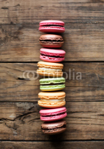 Obrazy i plakaty traditional french colorful macarons