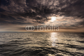 Obrazy i plakaty Beautiful seascape evening sea horizon and sky.
