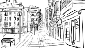 Obrazy i plakaty old town - illustration sketch