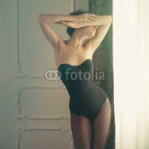 Fototapety Sensual lady in classical interior