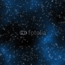 Fototapety Seamless Starfield with Glowing Stars at Night
