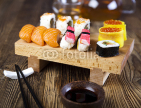 Fototapety Collection of sushi