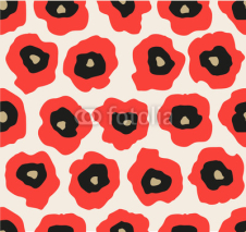 Fototapety Abstract poppy flower pattern. Vector illustration