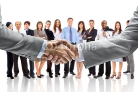 Fototapety handshake isolated on business background