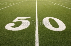 Fototapety American Football Field 50 Yard Line