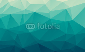 Obrazy i plakaty Stylish sea blue vector polygonal abstract background