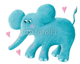 Fototapety Cute blue elephant