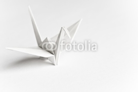 Naklejki An origami bird on a white background