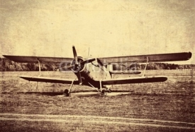 Naklejki Vintage photo of an old biplane